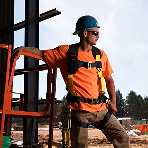 KwikSafety (Charlotte, NC) TYPHOON KIT | 3D Full Body Tongue Buckle w/Back Support Safety Harness, Bolt Pouch, 6' Lanyard, Tool Strap, 3' Anchor ANSI PPE Fall Protection Equipment Construction Bucket by KwikSafety (Image #7)