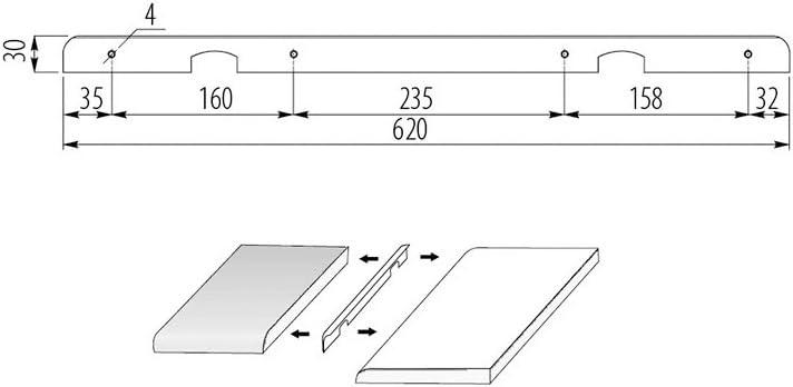 Abschlussleiste Winkelleisten Seiteleiste Arbeitsplatte Alu Kuche Eckleiste 38mm Amazon De Baumarkt