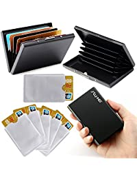 RFID Blocking Wallet & RFID Blocking Sleeves Combo - Used For Various Cards Or Passports