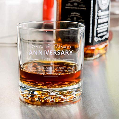 Hill Fashioned Nob Old (Center Gifts Anniversary Libbey Nob Hill Rocks/Old Fashioned Glass - Personalize It with the Name For You or Your Loved Once - Best Personalized Gift Idea for Anniversary)