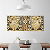 3 Panel Wall Art Set Frameless Rustic Thai Gate at Wat Sirisa Tong Thailand Buddhism History Spiritual Gen Teal for the kitchen, dining room, living room, bar and so on W24'' x H36'' x 3pcs