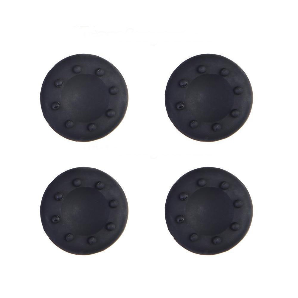 Analog Silicone Thumb Stick Grip Joystick Caps Cover for PS4 PS3 Xbox 360 Xbox One Game Controllers (4 x Black)