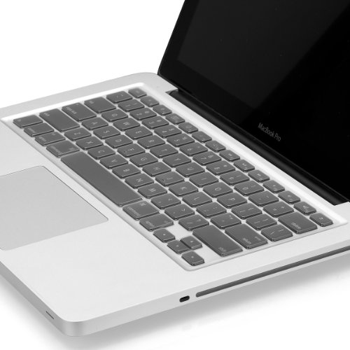 """Kuzy - ULTRA Thin CLEAR Keyboard Cover Soft TPU Skin for MacBook Pro 13"""" 15"""" 17"""" (with or w/out Retina Display) iMac and MacBook Air 13"""" - CLEAR"""