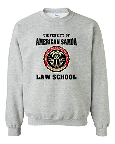 School Crewneck Sweatshirt (University Of American Samoa Law School DT Novelty Crewneck Sweatshirt (XX Large, Sports)