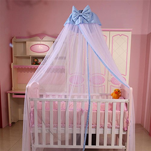 Cuti baby toddler bed canopy crib netting hanging mosquito for Baby girl canopy cribs