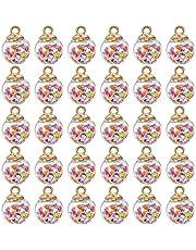 TOYANDONA 30Pcs Mini Kerst Pailletten Bal Kerstboom Opknoping Bal Ornament Diy Sieraden Charm Hanger Voor Kerst Holiday Party Gunsten Geschenken