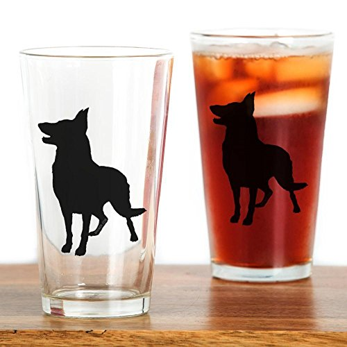 CafePress German Shepherd Silhouette Pint Glass, 16 oz. Drinking Glass