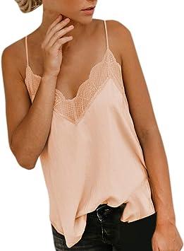 Liqiqi Blusa de seda de raso para mujer, elegante, de verano ...