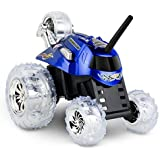 SHARPER IMAGE Thunder Tumbler 27MHz Children's Remote Control Spinning 360° Rotating Car Toy for Boys/ Girls, Best RC Race Truck, Perform Amazing Stunts and Flip Vehicle, BLUE