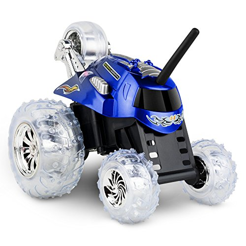 SHARPER IMAGE Thunder Tumbler Children's Remote Control Spinning Monster 360° Rotating Car for Boys and Girls, Best RC Race Truck with LED Lights, Perform Amazing Stunts and Flip Vehicle for Kids Toys