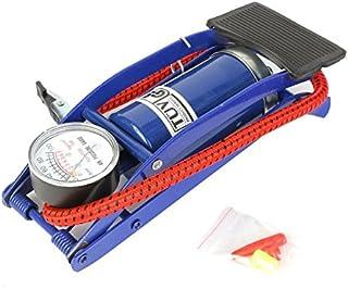 FANFAN Simple Tube Bleu Haute Pression Pied Pompe À Air Mini Compresseur Portable Gonflable Métal Air