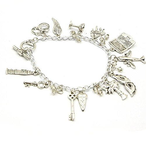 50 Shades of Grey 13 Charms Lobster Clasp Bracelet in Gift Box by Superheroes