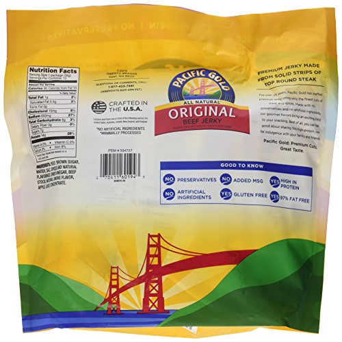 Pacific Gold Original Beef Jerky 12 - 1.25oz bags