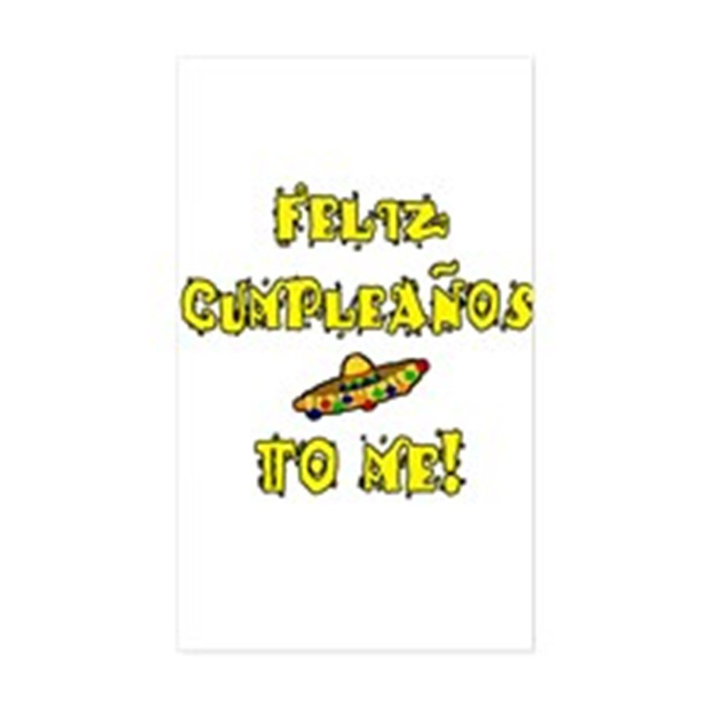 Amazon.com: CafePress Feliz Cumpleanos Rectangle Sticker ...