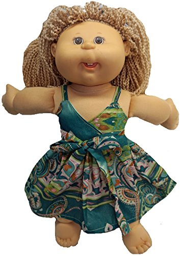 tore Green Paisley Sundress for Cabbage Patch Kid Dolls ()