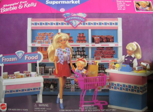 Barbie Shoppin' Fun Barbie & Kelly Supermarket Playset (1996 Arcotoys, Mattel) by Barbie