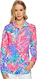 Lilly Pulitzer Women's UPF 50+ Skipper Printed Popover Multi Rainbow Soleil Medium