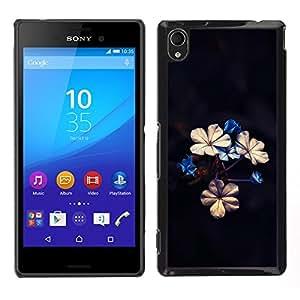 LECELL--Funda protectora / Cubierta / Piel For Sony Xperia M4 Aqua -- Hermosas flores --