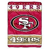 "NFL San Francisco 49ers 12th Man Plush Raschel Throw, 60"" x 80"""