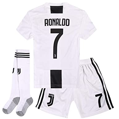 low priced 703b8 cd845 Amazon.com: Zawhz Juventus 2018-2019 Home Kids/Youth ...