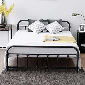 80ccf76ecd82 Giantex Queen Size Platform Bed Frame, Metal Bed Frame with ...