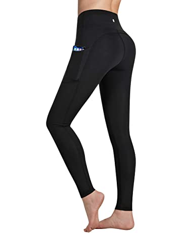 f5fbc068cd7ed5 Occffy Yoga Pants with Pockets, Tummy Control, Workout Running Leggings  with Pockets for Women