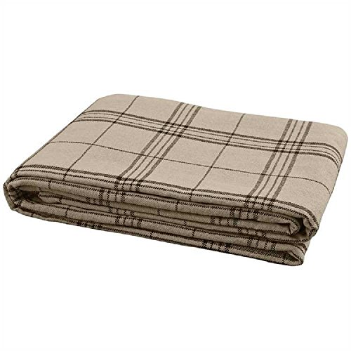Park Designs Fieldstone Plaid Queen Flatwoven Cotton Bedspre