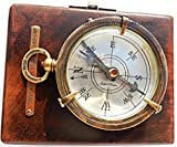 Brass Compass Dollond London - Compass with Fitted Hard-wood Box - Collect Able. C-3041