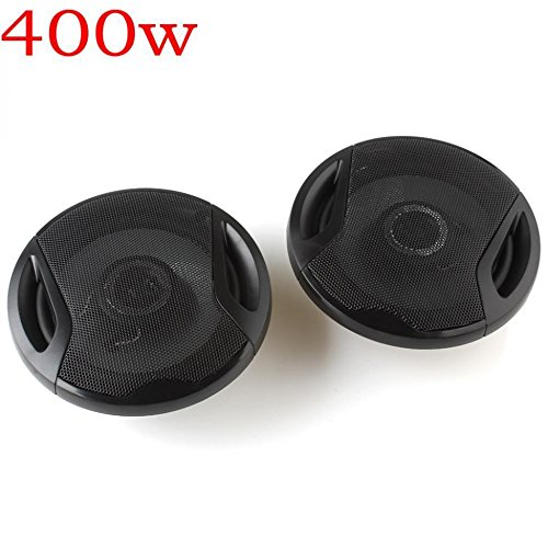 FidgetFidget Car SubWoofer Stereo Audio 2pcs 6Inch 90dB 400W HIFI Music Speakers Horn