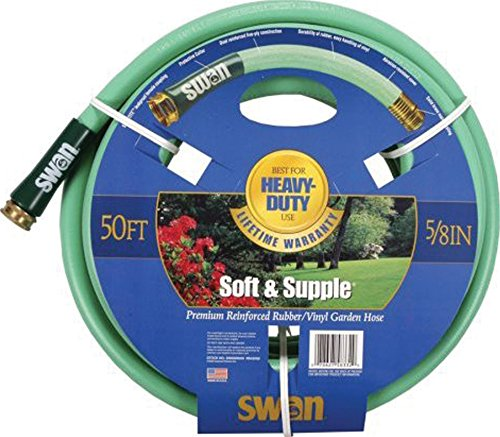 Swan SNSS58050 Soft/Supple Easy Coil Heavy Duty Water Hose 50 ft, 5/8