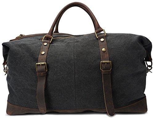 Beige Pour Rétro En Mode Shoulder Size Horseskin Sac Sacs Hommes Toile Embroidery Voyage De color Godwin Jeffrey Crazy L Bags Black qXITx