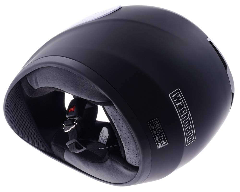 Gr/ö/ße XS Motorradhelm WACHMANN WA-30 STREETFIGHTER schwarz matt Integralhelm Rollerhelm