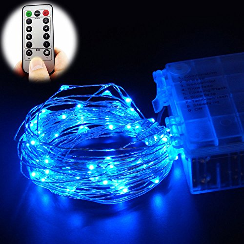 blue rope lights battery operated - 3