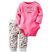 Kidsform Infant Baby Boy Girl Organic Long Sleeve Bodysuit+Pant Set Romper Jumpsuits Outfits Letter 6M