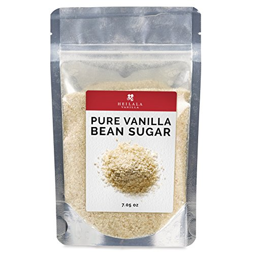 Pure Granulated Vanilla Bean Sugar - (7.05 oz) Ground Vanilla Pods with Organic Sugar Mix, Award Winning, Hand Picked in Tonga, Perfect for Baking, Dusting over Desserts, Coffee, Tea or ()