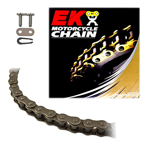 EK Chain 420 Standard Series Chain 120 Links Natural Natural (Super Series Solid Roller Chain)