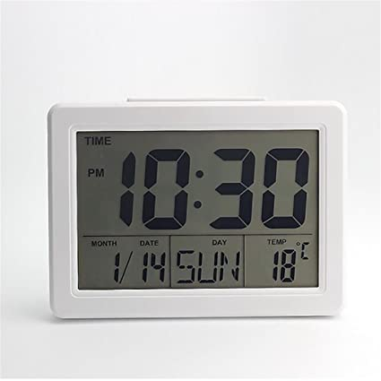 XL-3-Pantalla gran display digital electrónico reloj calendario temperatura y luz de fondo