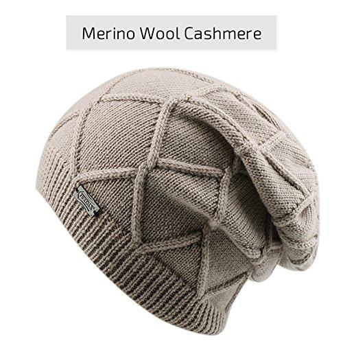 FURTALK Winter Knit Hats for Women Wool Skull Slouchy Beanie Hat