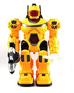 Velocity Toys Super Power Android Robot Toy Figure with Rotating Lights, Sounds, Walking Function, Colors May Vary