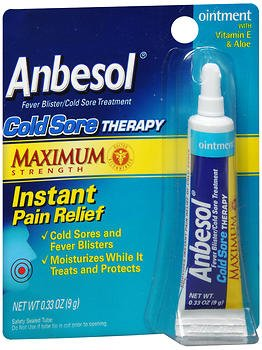 Anbesol Cold Sore Therapy Ointment - 0.25 oz, Pack of 5 by Anbesol