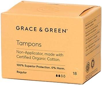 Grace & Green, tampones premium 100% algodón orgánico certificado ...
