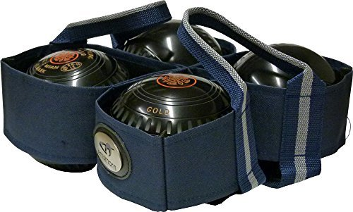 Outdoor Lawn Bowls Carry Bag - 4 Bowls Harness / Carrier by Carta Sport -