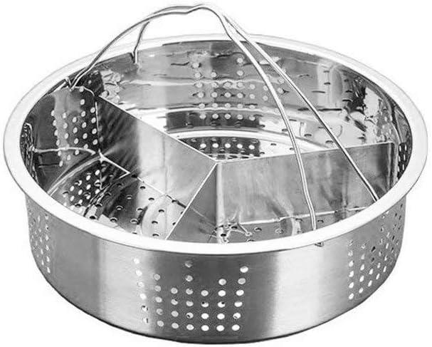 Keby - Soporte para cesta de vapor para accesorios de olla instantáneos, acero inoxidable, soporte para el vapor de huevos antiadherente