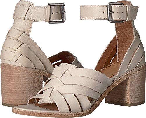 FRYE Women's Bianca Hurache 2 Piece Heeled Sandal, White, 7.5 M - White Bianco Footwear