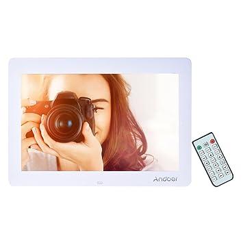 Marcos Digitales Andoer14Pulgadas 1280 x 800 HD TFT-LCD Marco de Foto Digital Música (