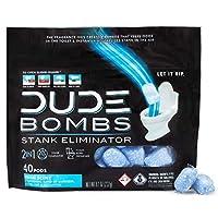Deals on DUDE Bombs Deodorizing Toilet Freshener Fresh Scent 40 Pods