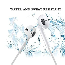 Bluetooth Headphones, INNLIFE Wireless Headphones V4.1 Stereo Earphones Noise Cancelling Earbuds Sports Sweatproof Headset with Mic for iPhone 7 Samsung Galaxy S7 and Android Phones (White)