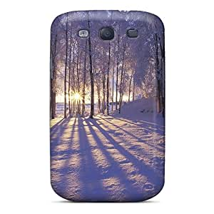 Tpu Fashionable Design Sun Between Trees Rugged Case Cover For Galaxy S3 New