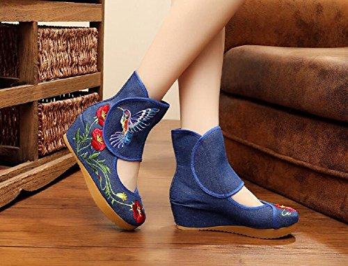 Lazutom - Sandalias de vestir para mujer Azul
