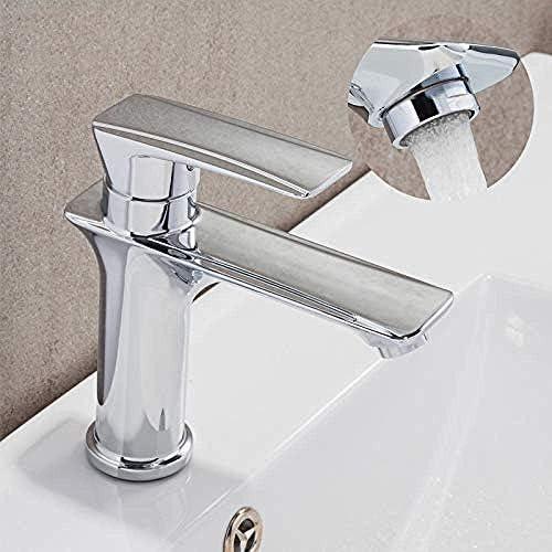 CLJ-LJ 蛇口キッチンタップ流域水栓洗面シンクミキサータップの滝の水タップ蛇口バスルームのデッキは、シンクミキサー滝の蛇口をマウント